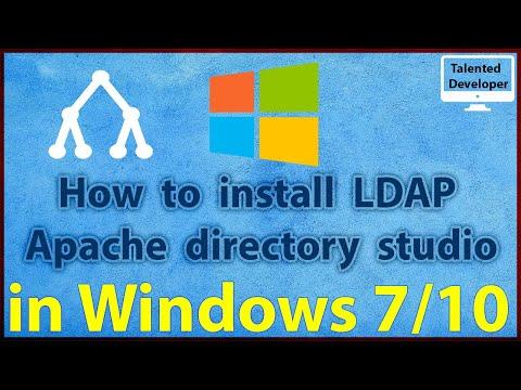 2 a - How to install LDAP Apache directory studio