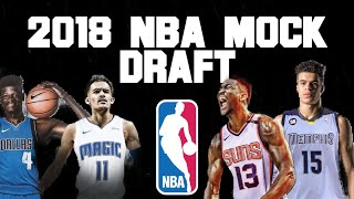 2018 NBA Mock Draft Picks 1 14