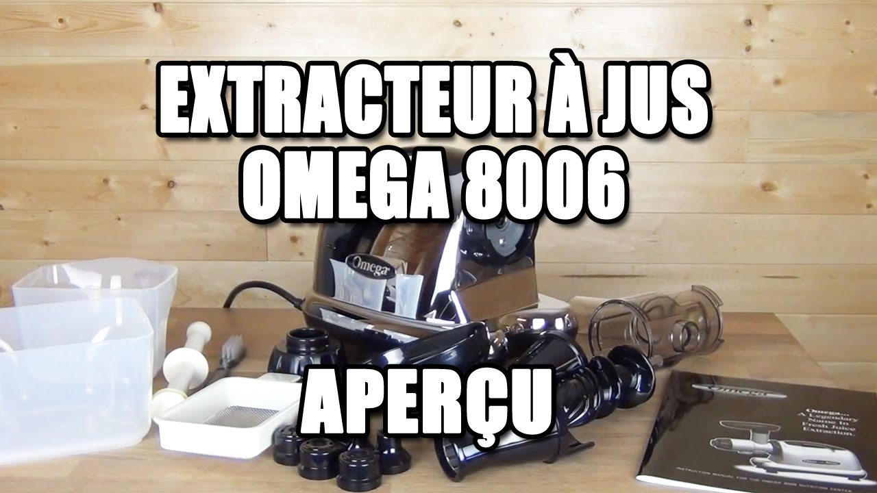 omega extracteur jus chrome mod le 8006 youtube. Black Bedroom Furniture Sets. Home Design Ideas