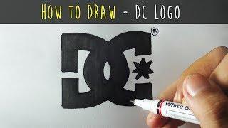 Wie zeichnet man einen Cartoon - DC Shoes Logo (Tutorial Schritt für Schritt)