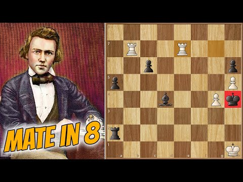 mate-in-8,-but-really-it's-instant-||-barnes-vs-morphy-(1858)