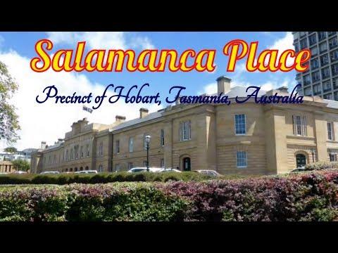 Visiting Salamanca Place, Precinct of Hobart, Tasmania, Australia