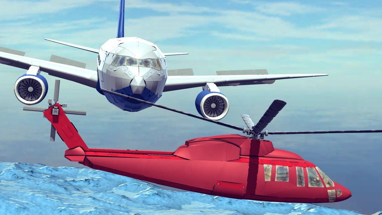Midair Collisions #2 Feat. Sikorsky S-76 vs Boeing 767 | Besiege