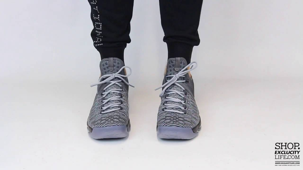1bca1afee26 Kd 9 Wolf Grey On feet Video at Exclucity - YouTube