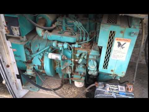 Kw Trailer Wiring Diagram Starting An Onan 7 5 Kw Diesel Genset Youtube