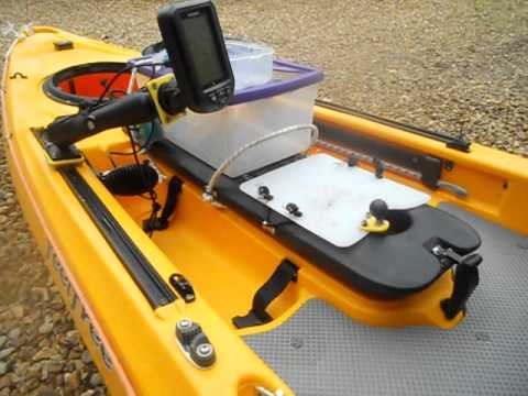 kayak battery & transducer set up for fish finder - youtube, Fish Finder