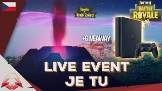 🔥 LIVE EVENT JE TU 🔥 + GIVEAWAY🎁 - Teorie a Krabí Zvěsti - Fortnite
