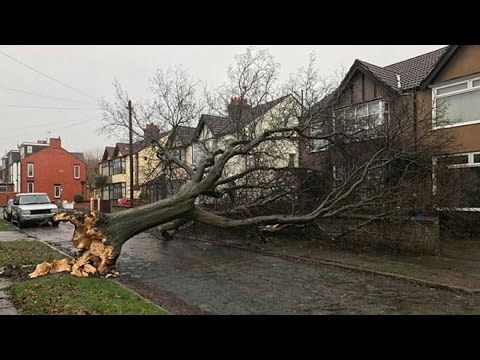 Storm day in Dublin Ireland 2017