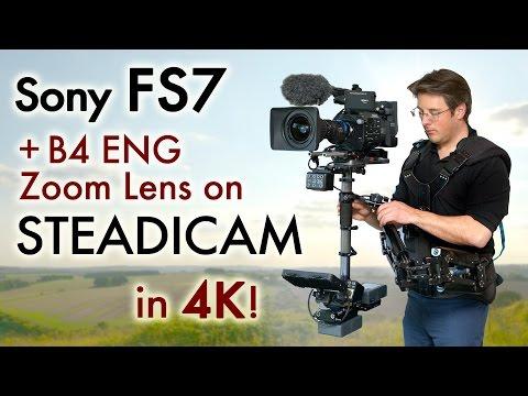 "FS7 on Steadicam with 2/3"" B4 ENG zoom lens - 4K footage & MTF adaptor"
