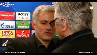 Jose Mourinho hugs BT Sport reporter following Scott McTominay question