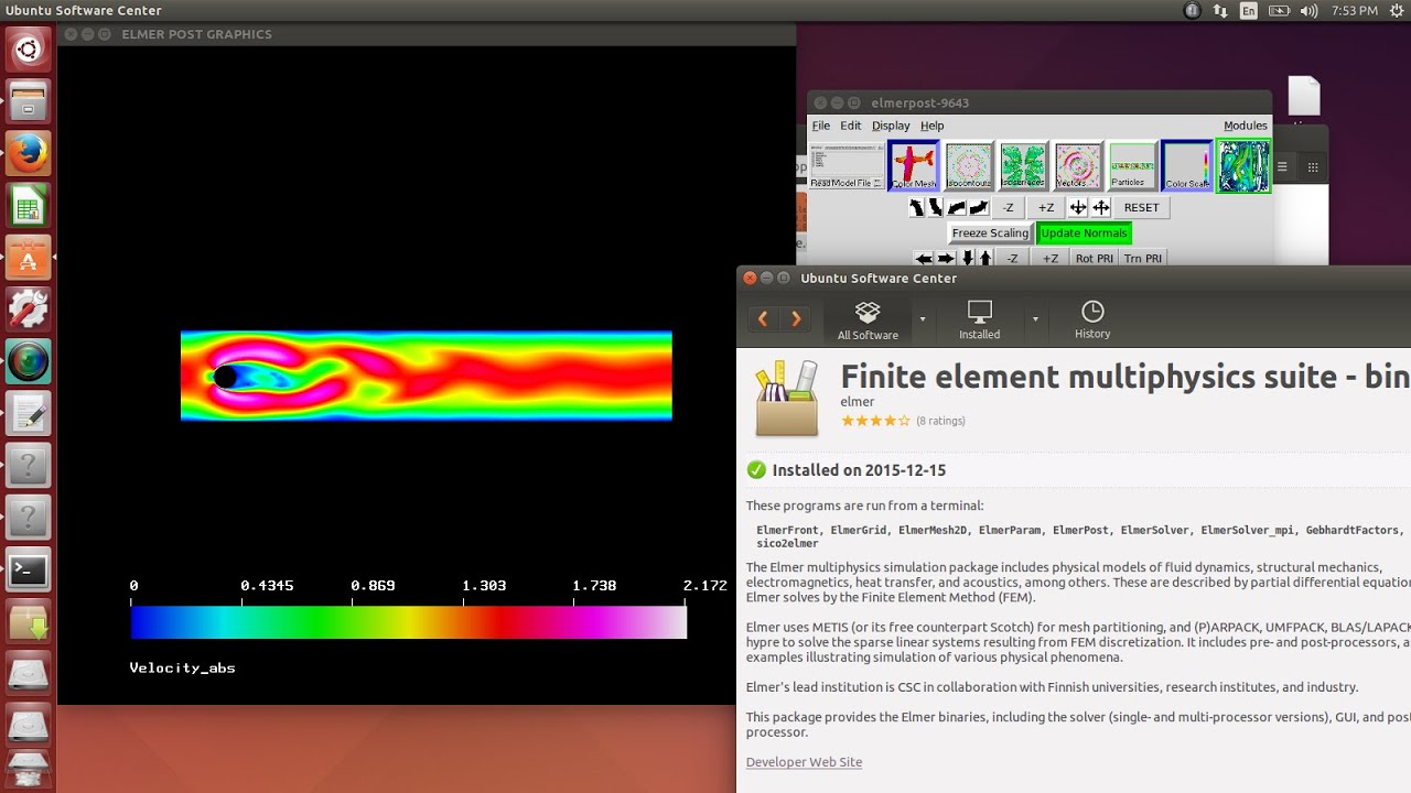 Installation of Salome-MECA and Elmer-FEM under Ubuntu 14