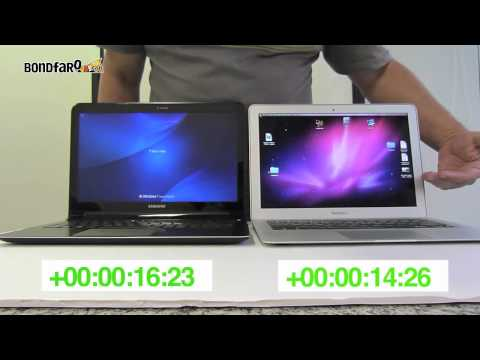 Samsung Serie 9 X Macbook Air - Comparativo