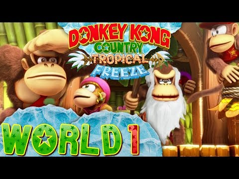 Download Youtube: Donkey Kong Country: Tropical Freeze - World 1 (Co-op)