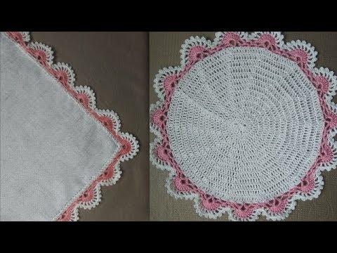 Салфетки, платочки. Обвязка для квадрата и для круга.