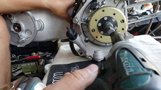 How to remove GY6 Flywheel, Stator, Oil Pump, & Starter Clutch on 157QMJ