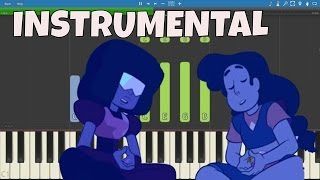 Here Comes A Thought Instrumental - Piano Accompaniment only - Steven Universe + Lyrics