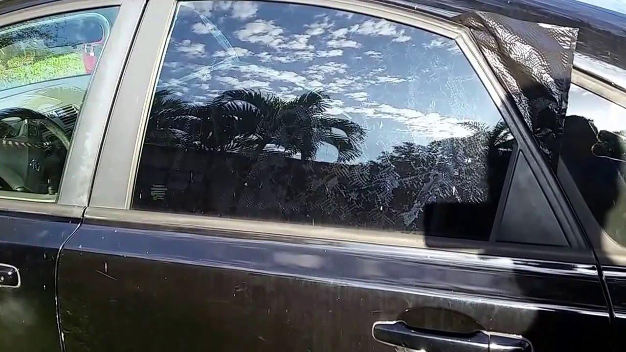Car Window Tint Removal DIY