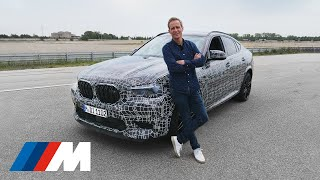Exposed: Malmedie drives the all-new BMW X6 M Competition.