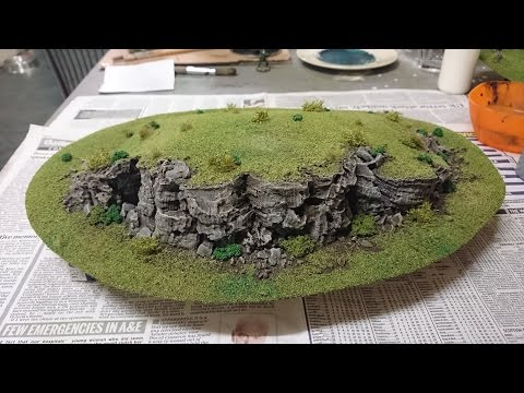 Model Railroad Train Scenery -Awesome Ideas For How to make cork bark rock faces for your wargaming scenery