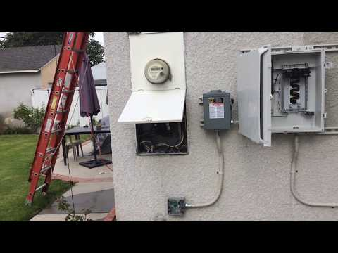 DIY Solar Electrical Installation for Grid Tied Electrical using  Enphase Micro inverters