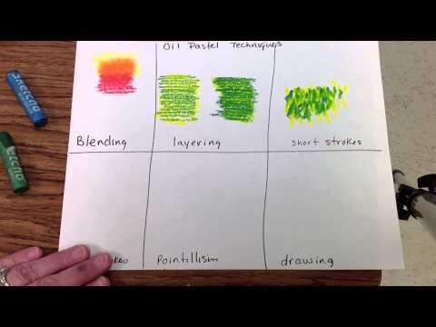 Oil Pastel techniques - YouTube