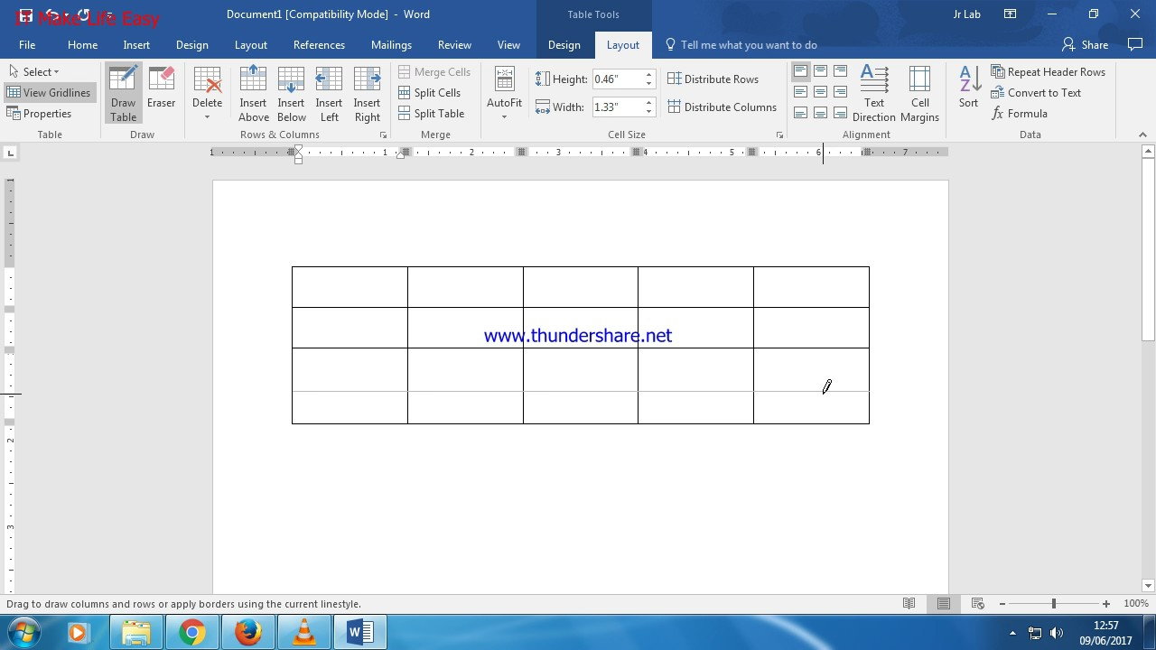 How to use Eraser in MS Word