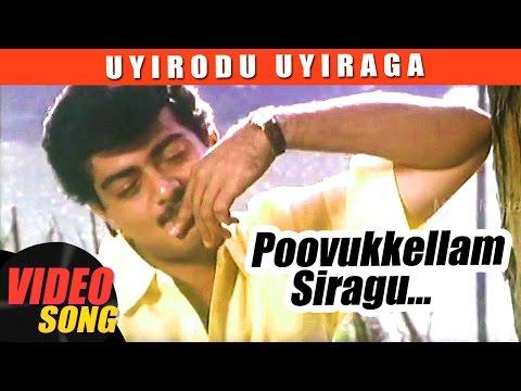 Poovukellam Video Song   Uyirodu Uyiraga Tamil Movie Songs   Ajith   Richa Ahuja   Vidyasagar