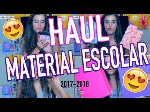 HAUL MATERIAL ESCOLAR 2017-2018 | Back to school