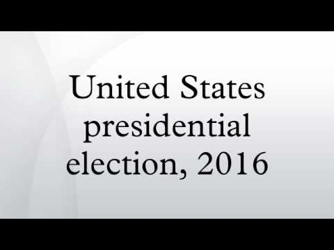 United States presidential election, 2016
