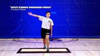 Vertical Core Training: Split Stance Overhead Press