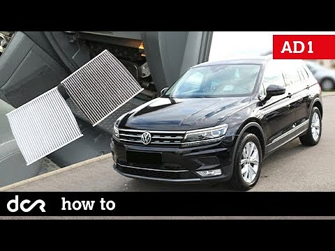 How to replace Cabin Air Filter – VW Tiguan II – 2017, 2018, 2019, 2020