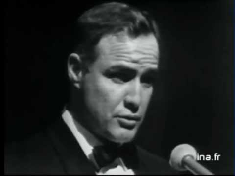 Marlon Brando charming in both French and English