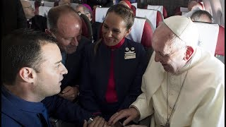 Papal marriage: Pope marries two flight attendants aboard flight