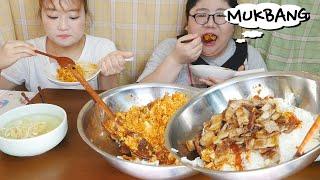 진짜 맵고 맛있는 실비김치 삼겹살 비빔밥과 시원한 냉콩…