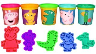 Peppa Pig Play Doh Learn Colors with Peppa Pig George Pig Teddy Dinosaur & Mr Polly Parrot Play Doh