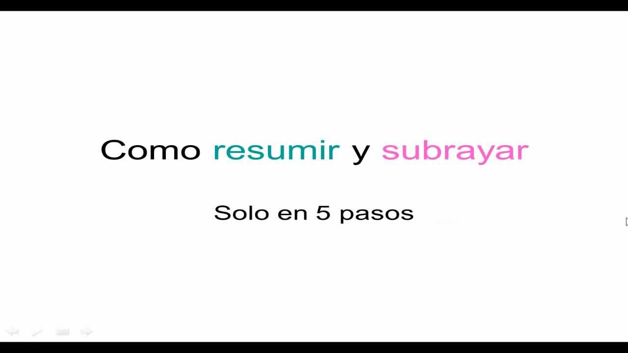 Como resumir textos - YouTube