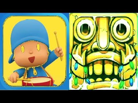 Talking pocoyo color reaction compilation vs temple run 2 for Temple run coloring pages