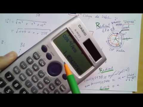 Radiant Vs. Degree - Winkel - 2016 - (Mathe-Abi: Vektorrechnung - #5)