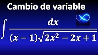 307. Integral de función irracional mediante cambio de variable y completando TCP