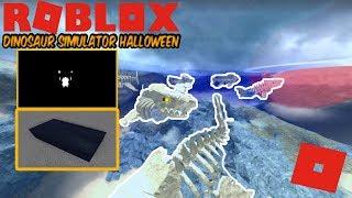 Roblox Dinosaur Simulator Halloween - Abra Remodel? et quelque chose de effrayant! Fossil Meg PACK!