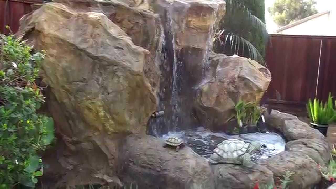 Backyard Waterfalls Design Ideas - YouTube