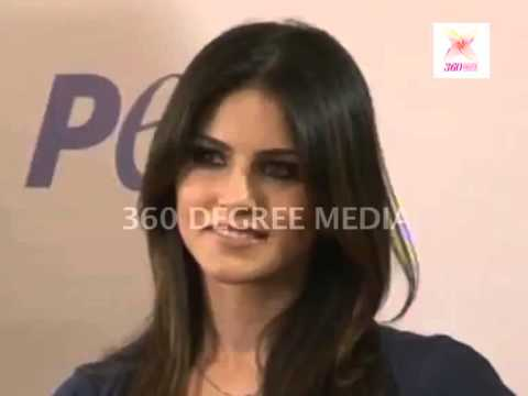 Sunny Leone on the stage at the launching of the animal birth control ad-campaign with PETA