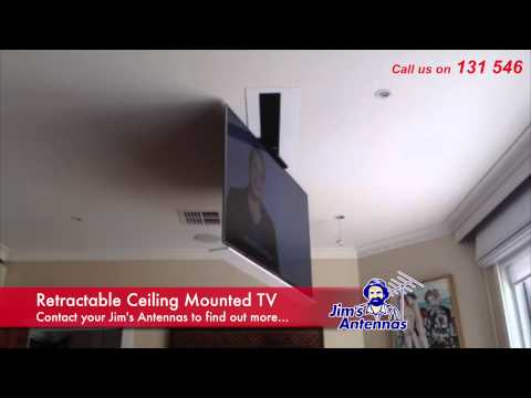 plb m0522 remote control motorized flip down tv ceiling