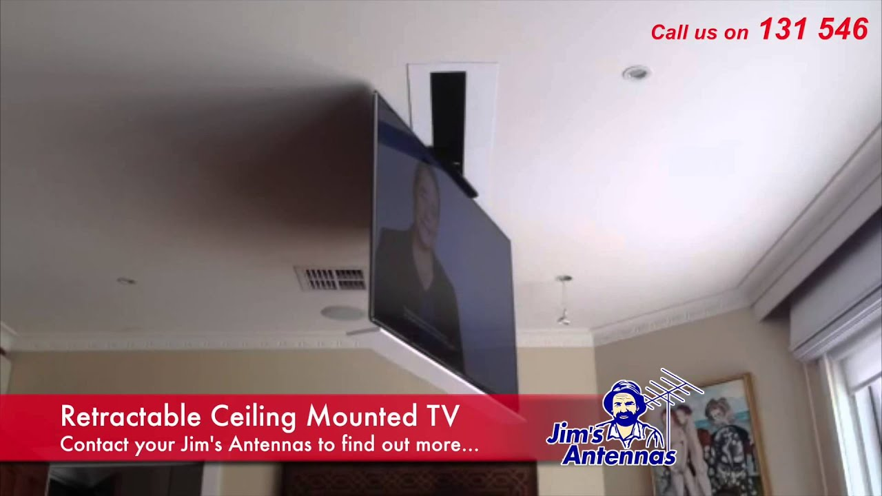 Retractable Ceiling Mounted Tv