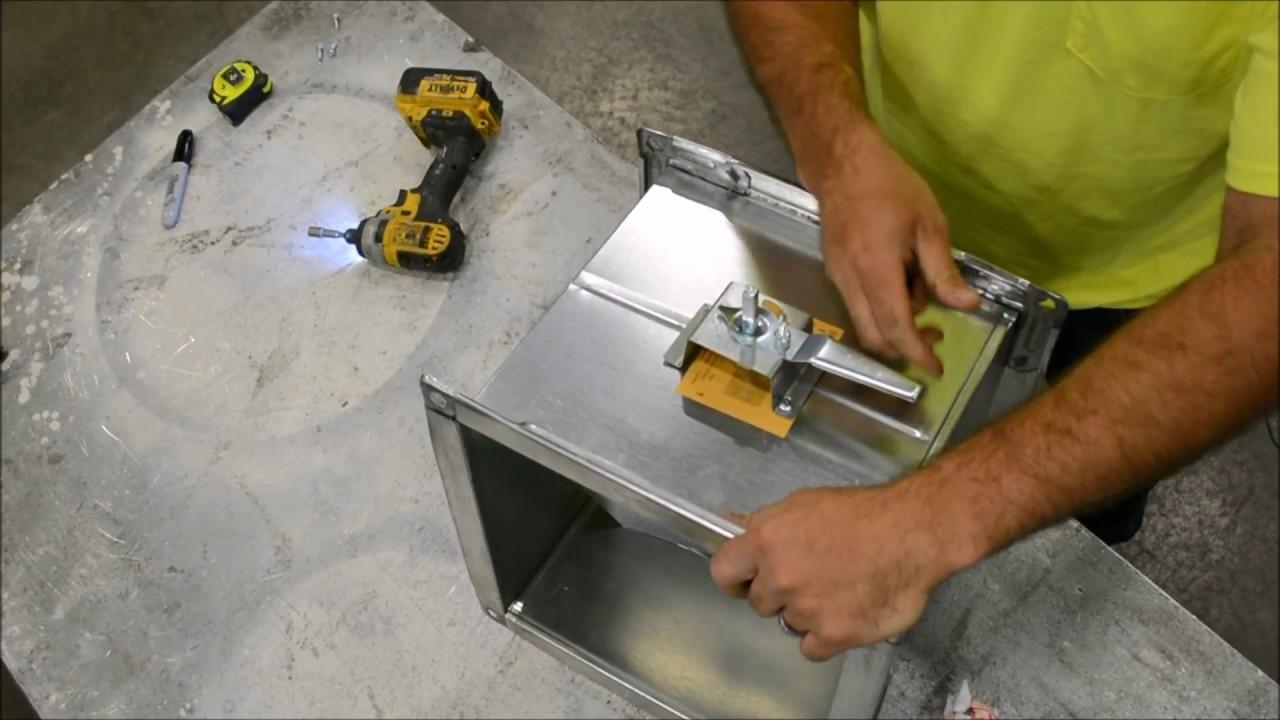 Damper Installation - Single Blade Rectangular