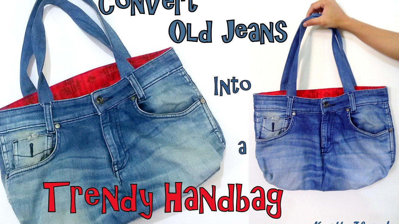 Diy Convert Old Jeans Into A Trendy Handbag Best Out Of Waste Tutorial You