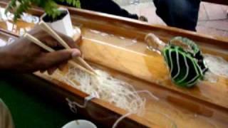 Noodle River In Japan