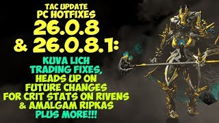 Warframe   KUVA L CH TRAD NG F XES Heads Up On Future Riven Crit Stat Changes  More