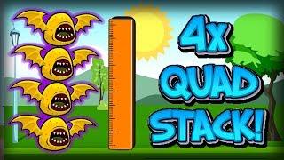STRONGEST BOSS MONSTER MEGA-TOWER!! Flyordie.io Cosmic Bat 4X QUAD STACK! Highest Animal Upgrade!