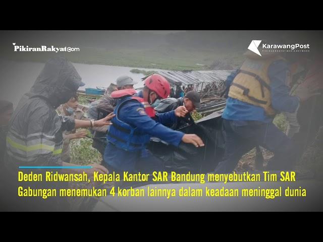 Tim SAR Gabungan Temukan seluruh Penumpang Perahu Terbalik di Waduk Cirata Kab Purwakarta